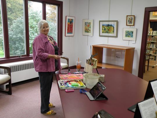 Cazenovia Watercolor Society show and demo by Martha Keim