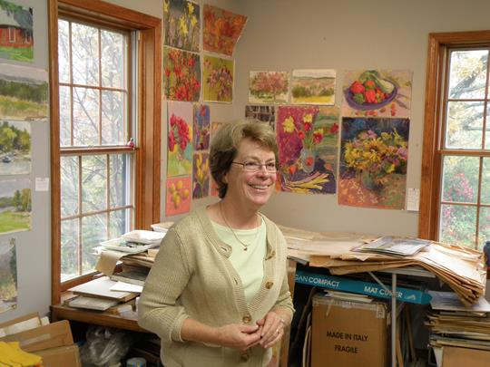 Mary Padgett at her studio