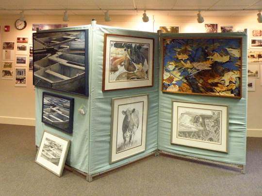 Rick Marchant's paintings at the Caz Library