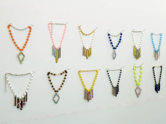 A display of Kristen Gale's jewelry