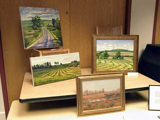 Deb Wester paintings at the Cazenovia Public Library