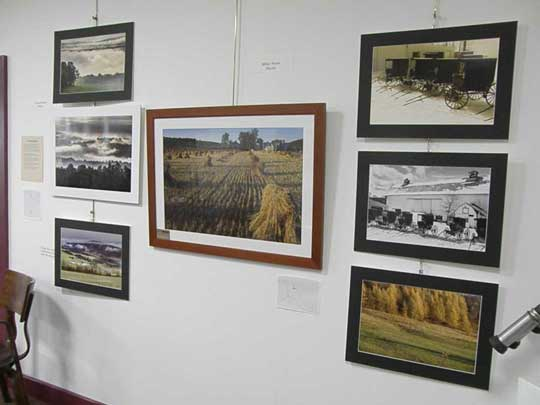 Exhibit of Jerry Weimar photographs at the New Woodstock Free Library