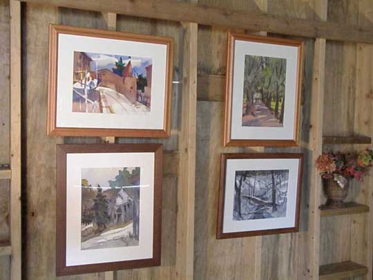 Drayton Jones' watercolors on display