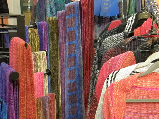 Woven creations at Cazenovia Artisans