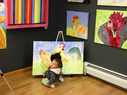 Paintings by Michael McBane have caught the attention of a toddler