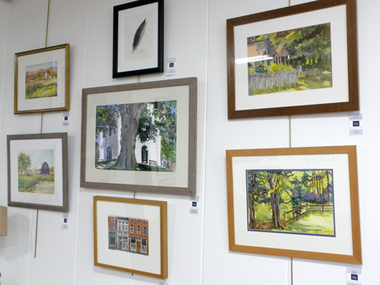 Cazenovia Watercolor Society works on display at the New Woodstock Free Library