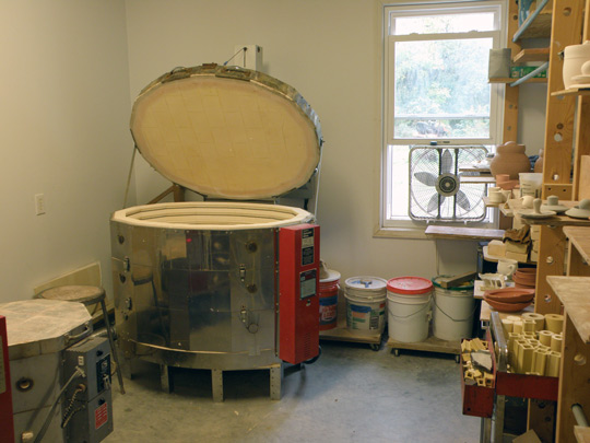 Kiln at the Lurie/Beasecker studios