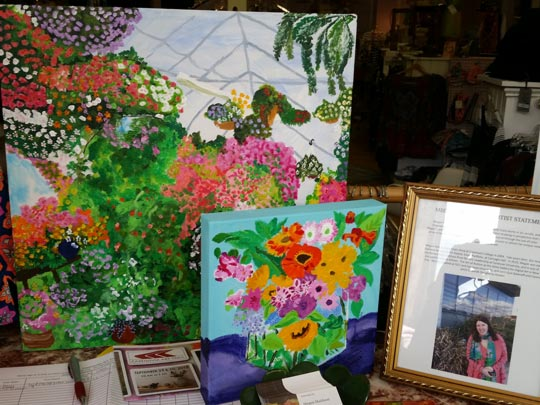 Megan Muldoon's vibrant paintings on display at Lillie Bean