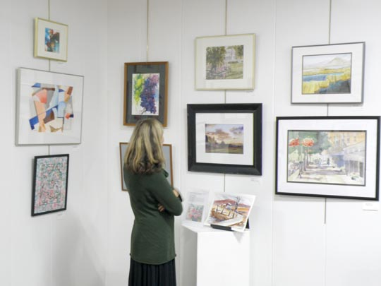 Cazenovia Watercolor Society works shown at the New Woodstock Free Library