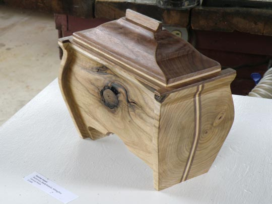 Inlayed wooden box by Geoffrey Navias