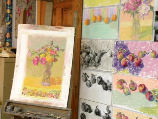 Pastel studies and finished pieces by Mary Padgett